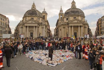 Children's Heart of Trash, 2007 Piazza del Popolo, Rome